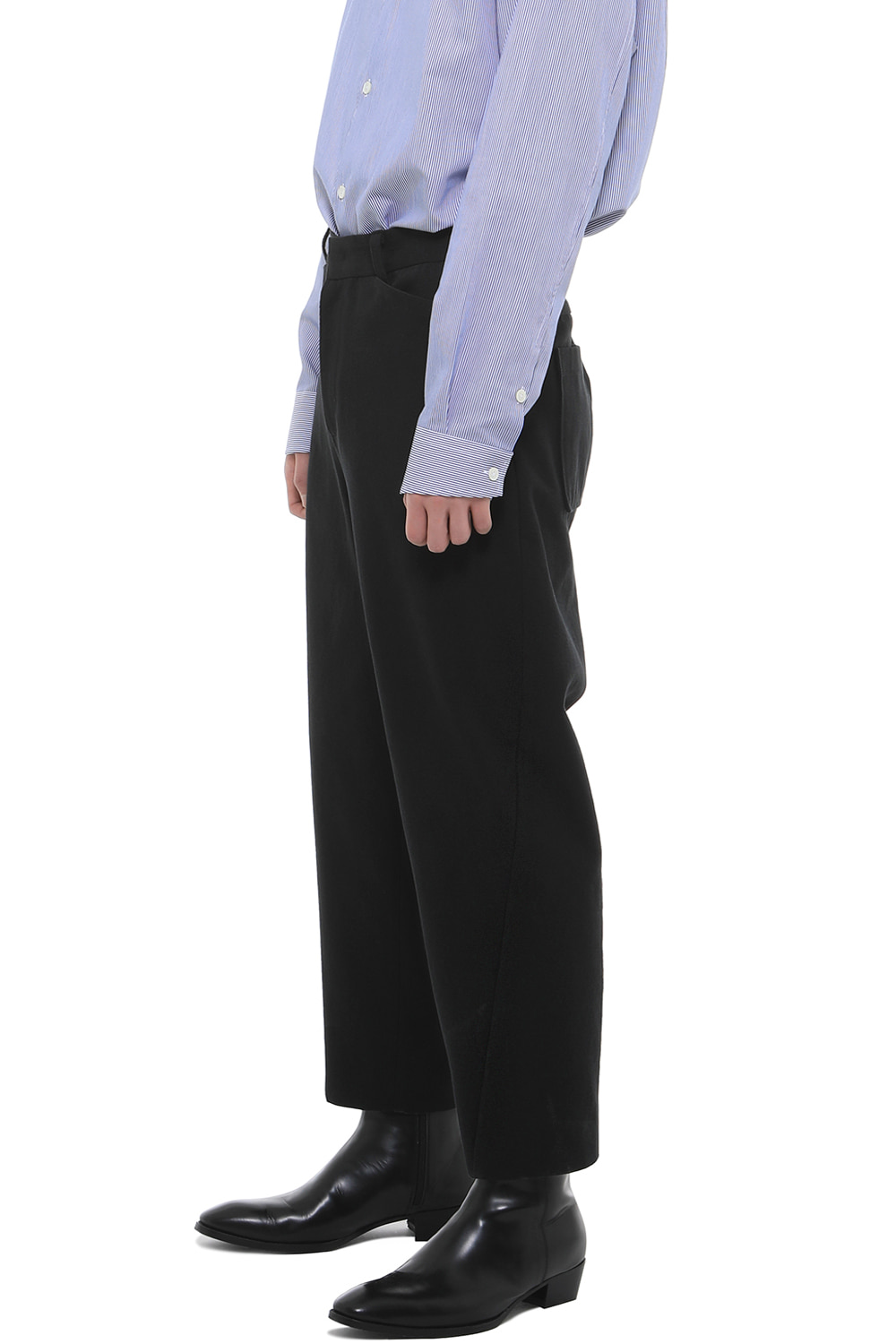 P008 / Twist Black Cotton Pants