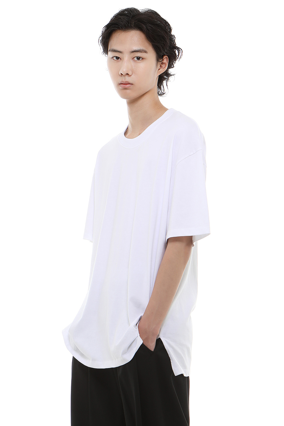 T001 / Cotton 100 Layered White T