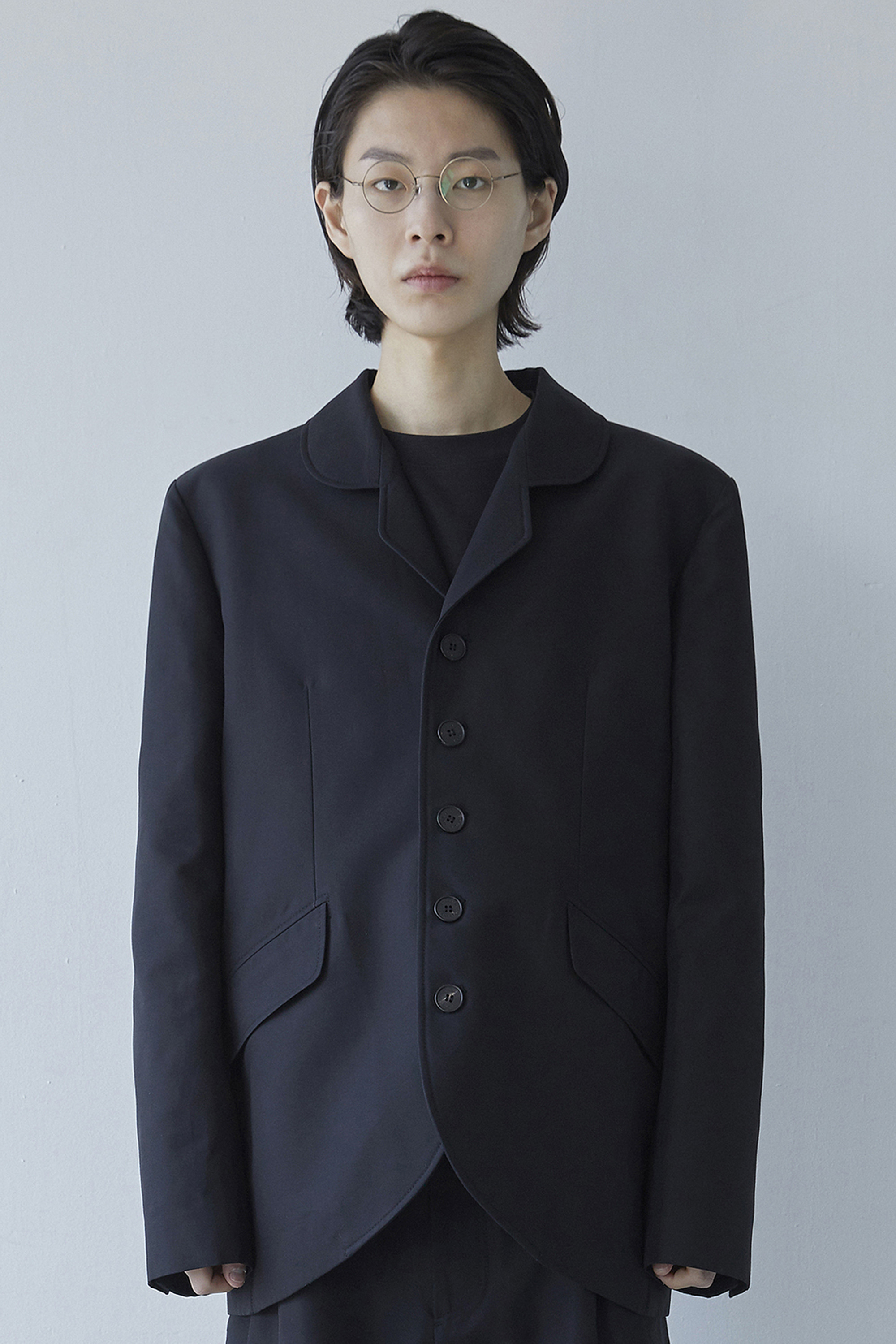 J005 / Black 5Button Pajamas Jacket