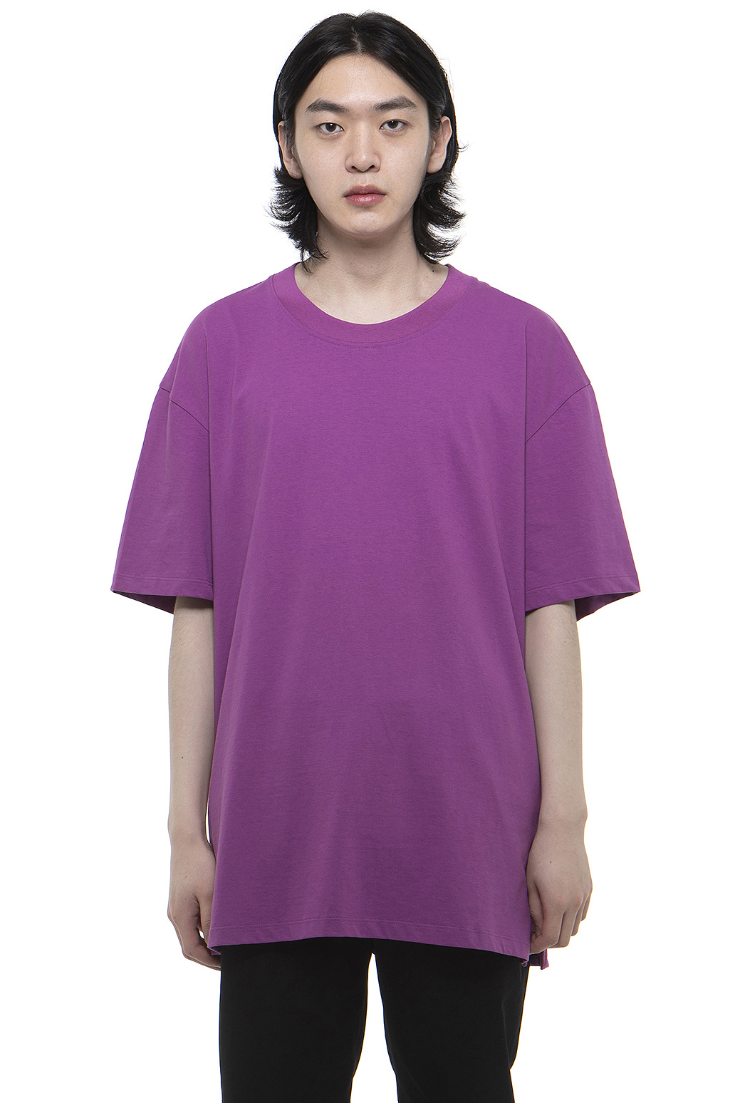T001 / Cotton 100 Layered Purple T