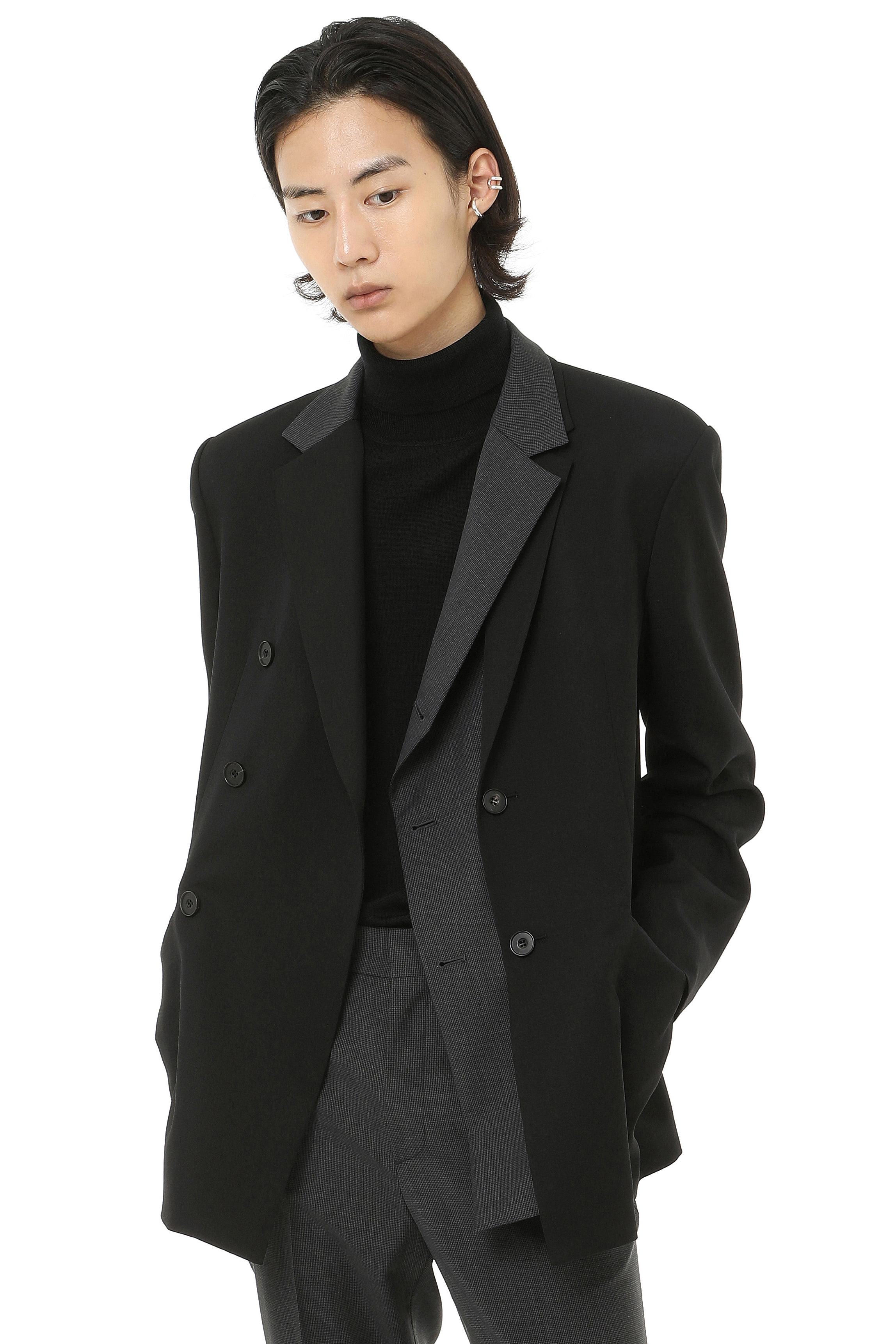 J004 / Layered Combination Blazer