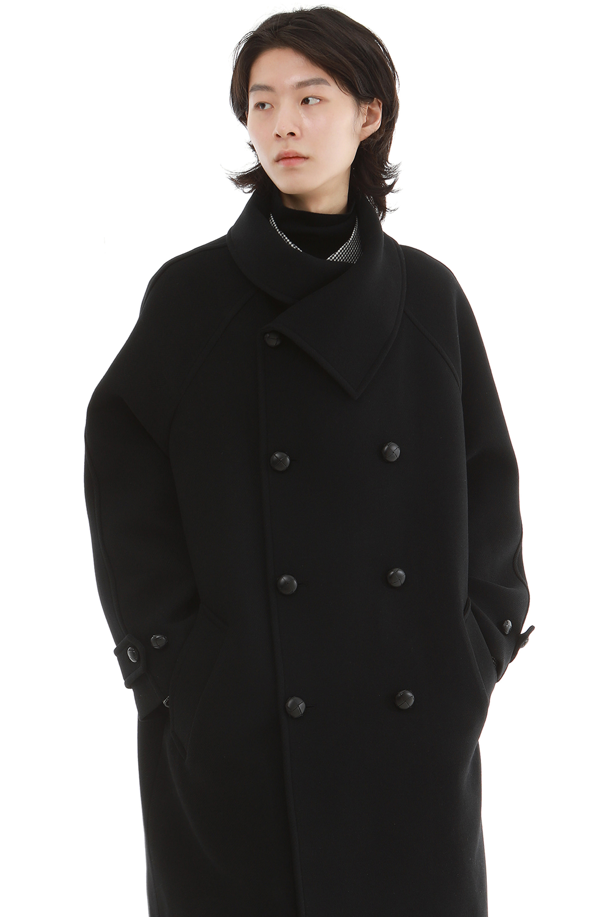 C003 / High neck Italy Raglan Coat